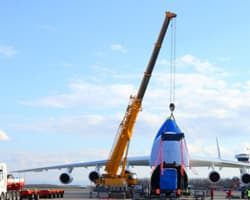 The development of specialised cargo-flying aircrafts with the growth of the air cargo industry